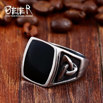 Cool Men's Retro Egypt Pattern Men Stainless Steel Gothic Style Fashion Ring For Man BR8-037